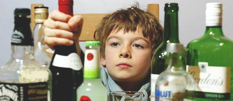 Alcohol addiction is seriously affecting children's well being