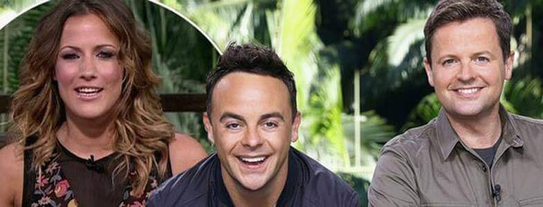 Ant, Dec and Caroline in I'm a Celebrity